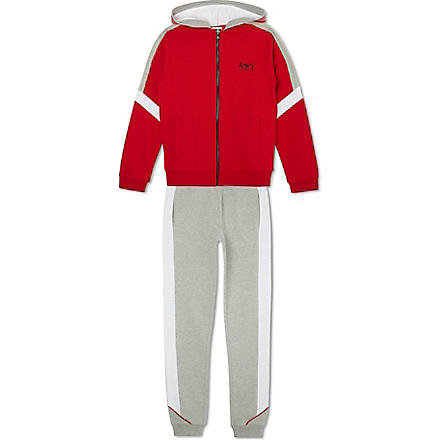 ARMANI JUNIOR Tracksuit bottoms & hooded jacket set (Red