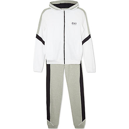 ARMANI JUNIOR Tracksuit bottoms & hooded jacket set (White