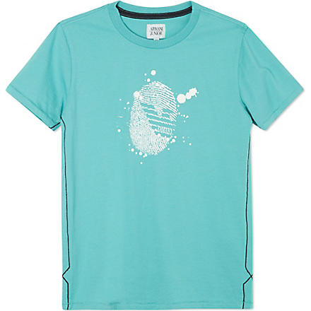 ARMANI JUNIOR Placement print t-shirt 10-16 years (Green