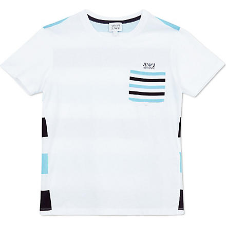 ARMANI JUNIOR Stripe t-shirt 10-16 years (White