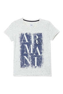 ARMANI JUNIOR Flecked logo t-shirt 10-16 years