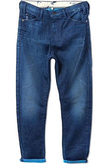ARMANI JUNIOR Overdyed carrotfit jeans 10-16 years