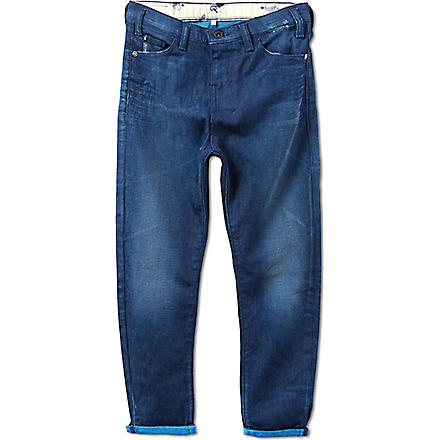 ARMANI JUNIOR Overdyed carrotfit jeans 10-16 years (Blue