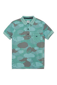 ARMANI JUNIOR Camouflage polo shirt 10-16 years