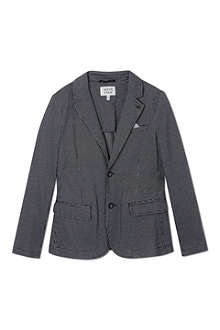 ARMANI JUNIOR Checked blazer with pocket square 10-16 years