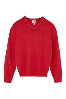 ARMANI JUNIOR Knitted v-neck jumper 10-16 years