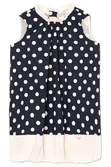 ARMANI JUNIOR Polka dot bubble dress 3-24 months