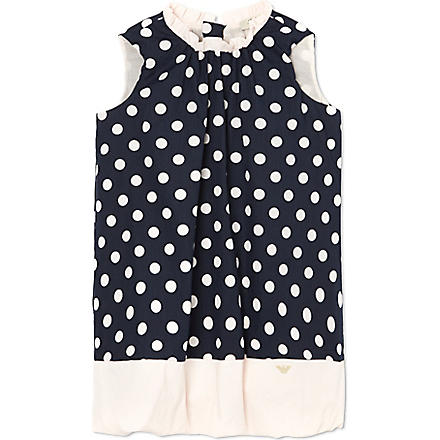 ARMANI JUNIOR Polka dot bubble dress 3-24 months (Pink/navy