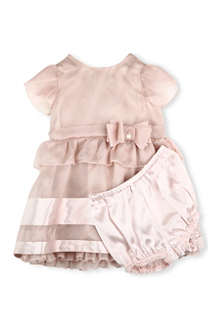 ARMANI JUNIOR Chiffon bow dress 3-24 months