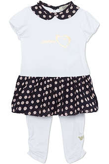 ARMANI JUNIOR Polka-dot dress 3-24 months