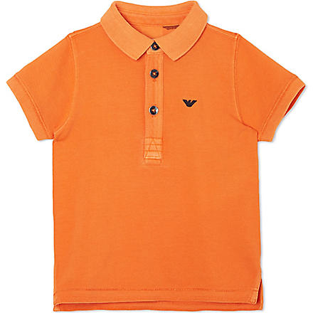 ARMANI JUNIOR Short-sleeved polo shirt 3-24 months (Orange