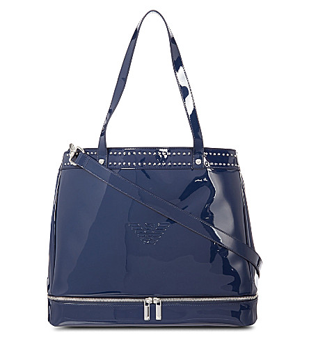 ARMANI JUNIOR Patent nappy bag (Navy