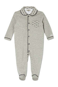 ARMANI JUNIOR Eagle collar sleepsuit 1-12 months