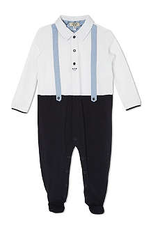 ARMANI JUNIOR Braces-look sleepsuit 1-12 months