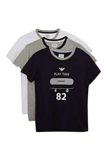 ARMANI JUNIOR Set of three t-shirt set 10-16 years