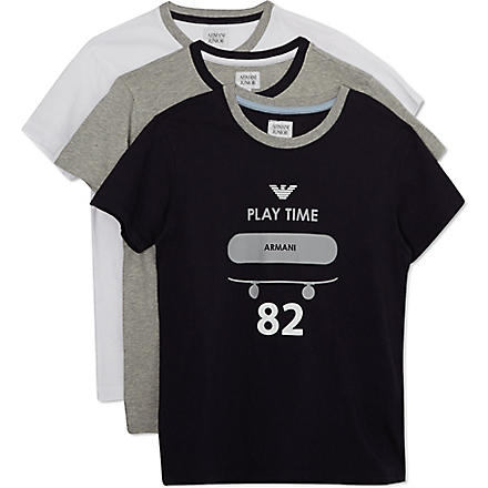 ARMANI JUNIOR Set of three t-shirt set 10-16 years (Multi