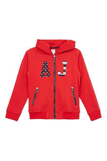 ARMANI JUNIOR Logo hooded sweatshirt 10-16 years