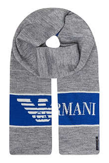 ARMANI JUNIOR Eagle logo scarf