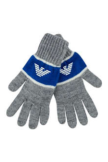 ARMANI JUNIOR Eagle logo gloves 6-12 years