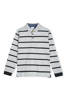 ARMANI JUNIOR Striped long-sleeve polo shirt 10-16 years