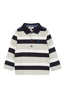 ARMANI JUNIOR Armani striped long polo 3-24 months