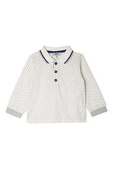 ARMANI JUNIOR Eagle print polo shirt 3-24 months