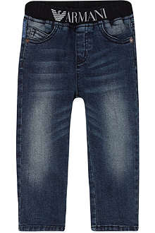 ARMANI JUNIOR Elasticated denim jeans 3-24 months