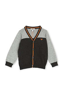 ARMANI JUNIOR Contrast trim cardigan 3 - 24 months