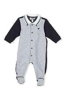 ARMANI JUNIOR Button down babygrow 1-9 months