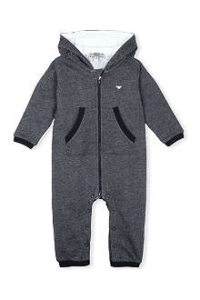 ARMANI JUNIOR Logo zip baby-grow 1-12 months