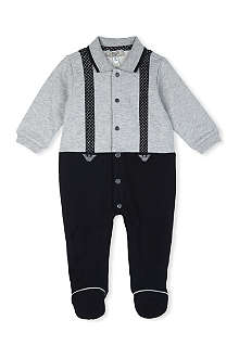 ARMANI JUNIOR Braces print baby-grow 1-9 months