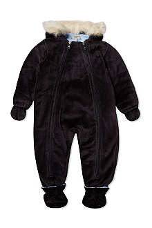 ARMANI JUNIOR Faux-fur trim snowsuit 1-12 months
