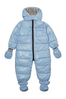 ARMANI JUNIOR Armani eagle print snowsuit 1-12 months