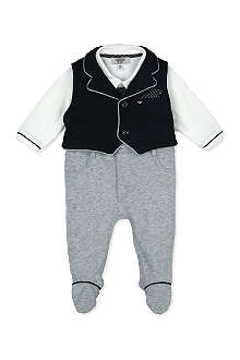 ARMANI JUNIOR Jersey waistcoat two piece 1-9 months