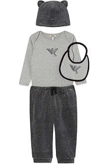 ARMANI JUNIOR Armani velour stripe 4pc set