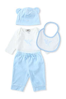 ARMANI JUNIOR Four-piece velour set