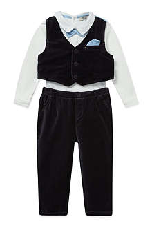 ARMANI JUNIOR Velour 3 piece tuxedo set 1-12 months