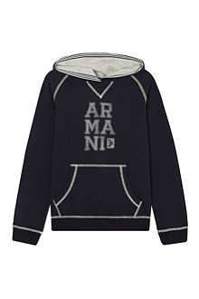 ARMANI JUNIOR Logo hooded sweatshirt 4-16 years