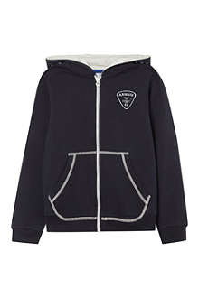 ARMANI JUNIOR Logo zip-up hoodie 4-16 years