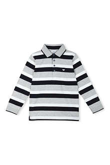 ARMANI JUNIOR Striped polo shirt 3-8 years