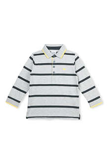 ARMANI JUNIOR Striped polo top