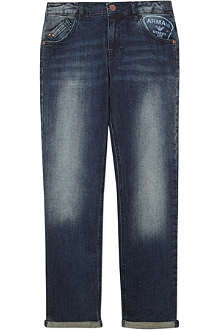 ARMANI JUNIOR Logo pocket denim jeans 3-8 years