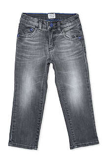 ARMANI JUNIOR Armani eagle detail jeans 3-8 years