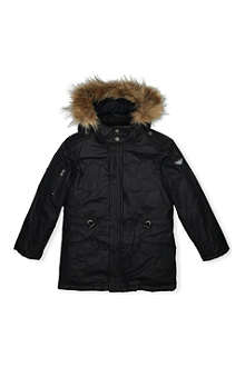 ARMANI JUNIOR Wax coated parka 4-8 years