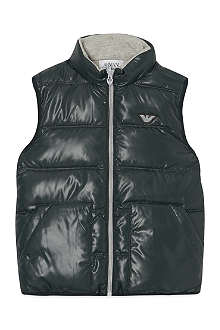 ARMANI JUNIOR Reversible padded gillet 4-16 years
