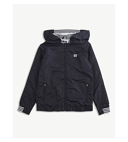 ARMANI JUNIOR Hooded windbreaker jacket 4-16 years (Navy
