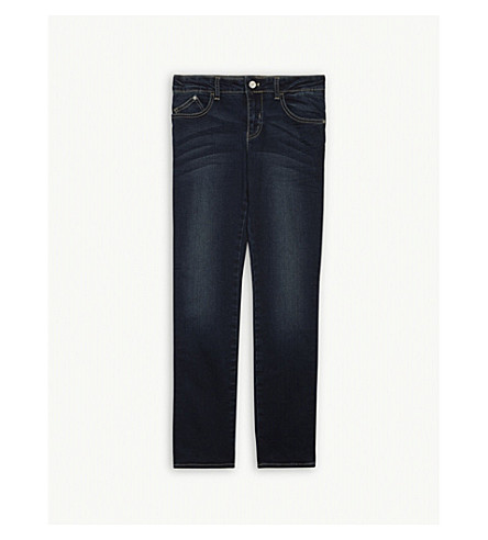 ARMANI JUNIOR Slim leg stretch-cotton jeans 4-16 years (Denim