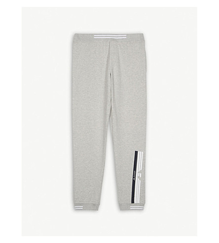 ARMANI JUNIOR Logo stretch-cotton jogging bottoms 4-16 years (Grey