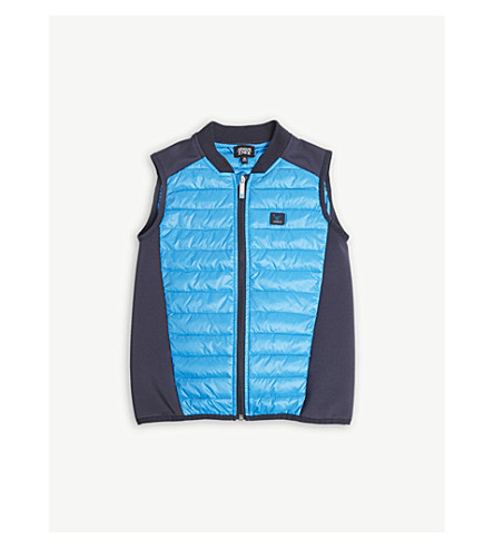 ARMANI JUNIOR Logo quilted gilet 4-16 years (Turq