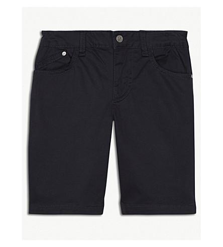 ARMANI JUNIOR Chino cotton shorts 4-16 years (Navy
